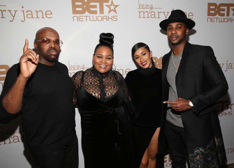 Shaft, Patientce Foster, Carli B, and J Class attend  the Being Mary Jane premiere screening and party on January 9, 2017 in New York City.