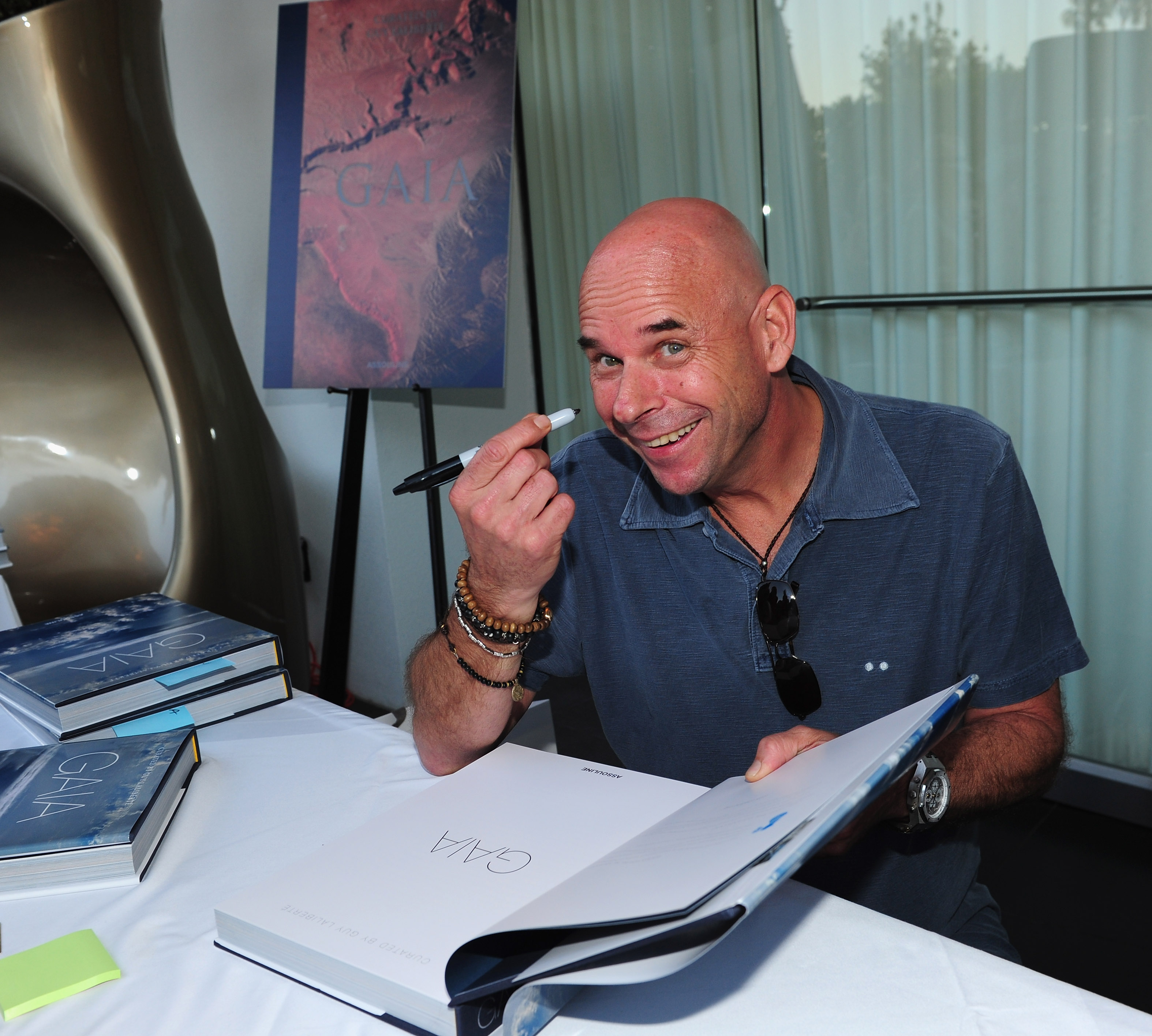 "Founder Of Cirque Du Soleil Guy Laliberte Celebrates His New Publication ""Gaia"""