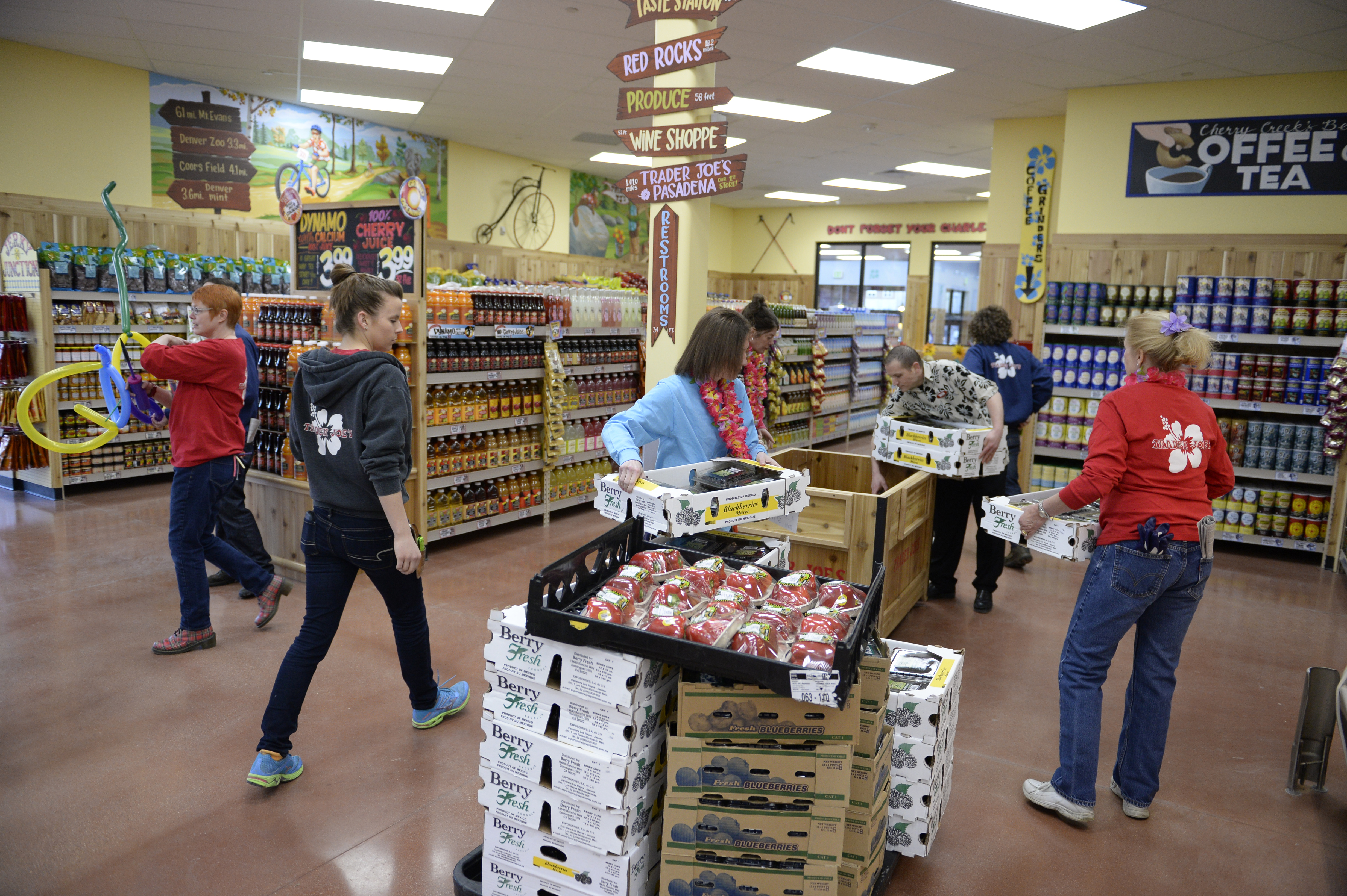 Opening of specialty grocer Trader Joe's
