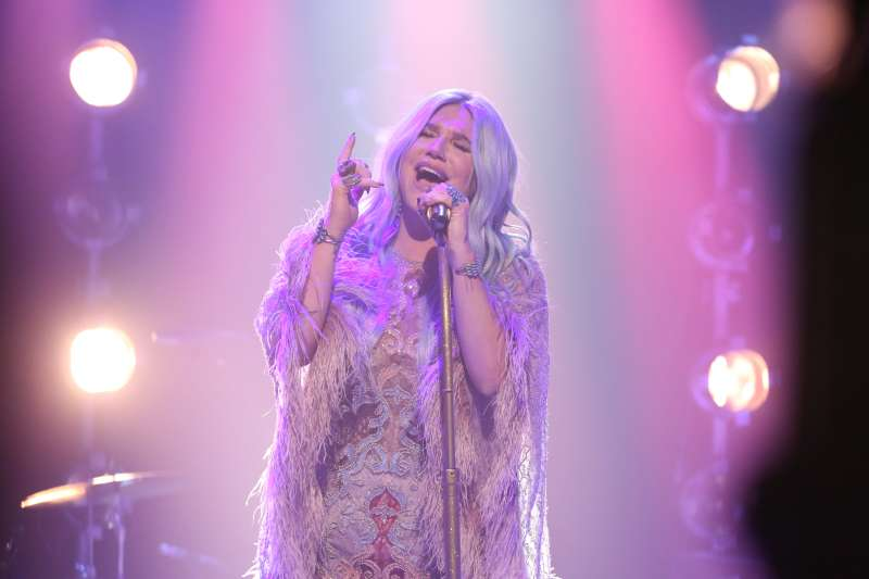 Musical Guest Kesha performs  Praying  on August 10, 2017