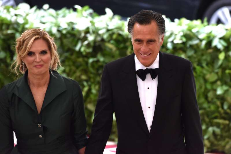 Ann Romney (L) and Mitt Romney attend the  Costume Institute Gala at The Metropolitan Museum of Art on May 7, 2018 in New York City.