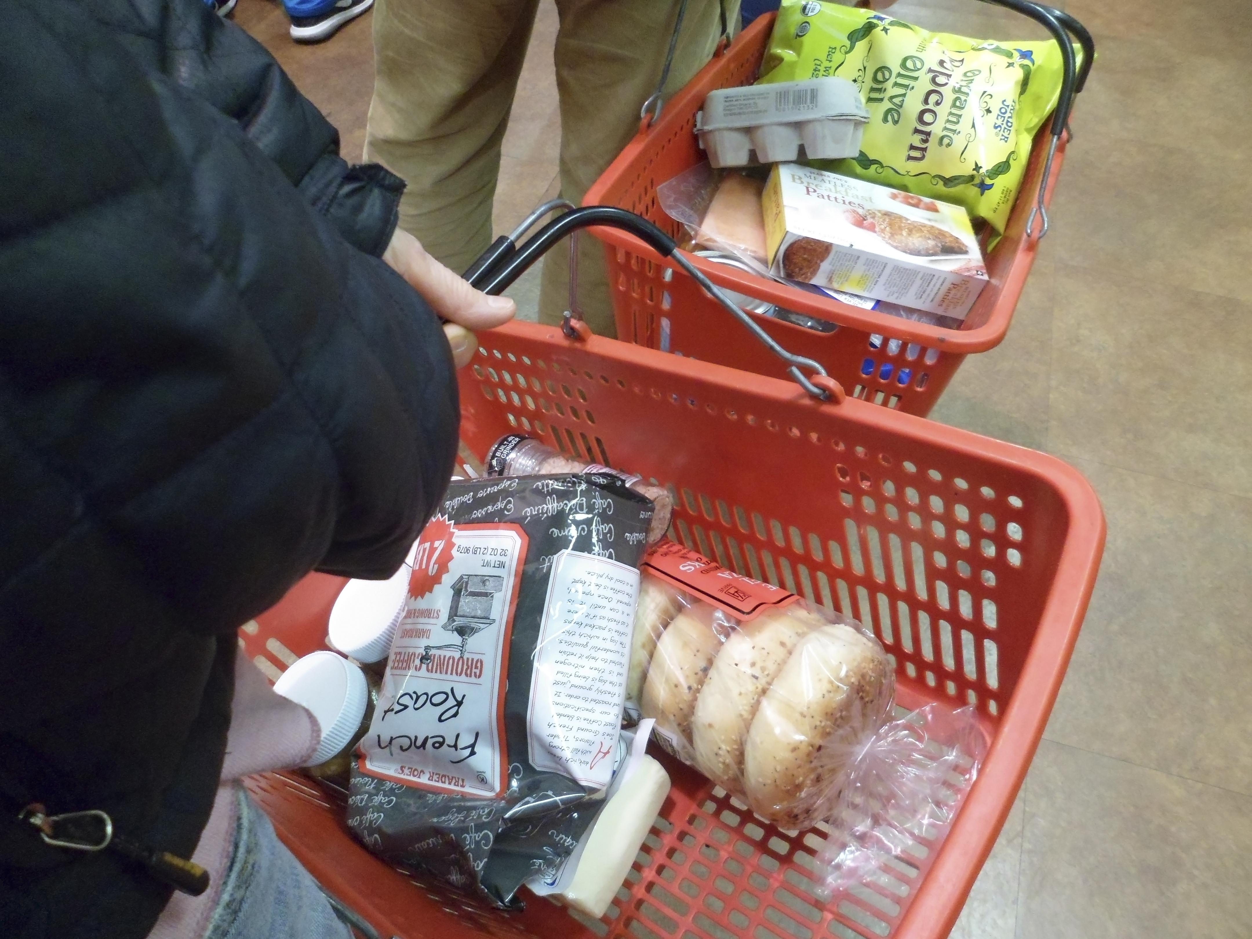 Shopping at Trader Joe's in New York