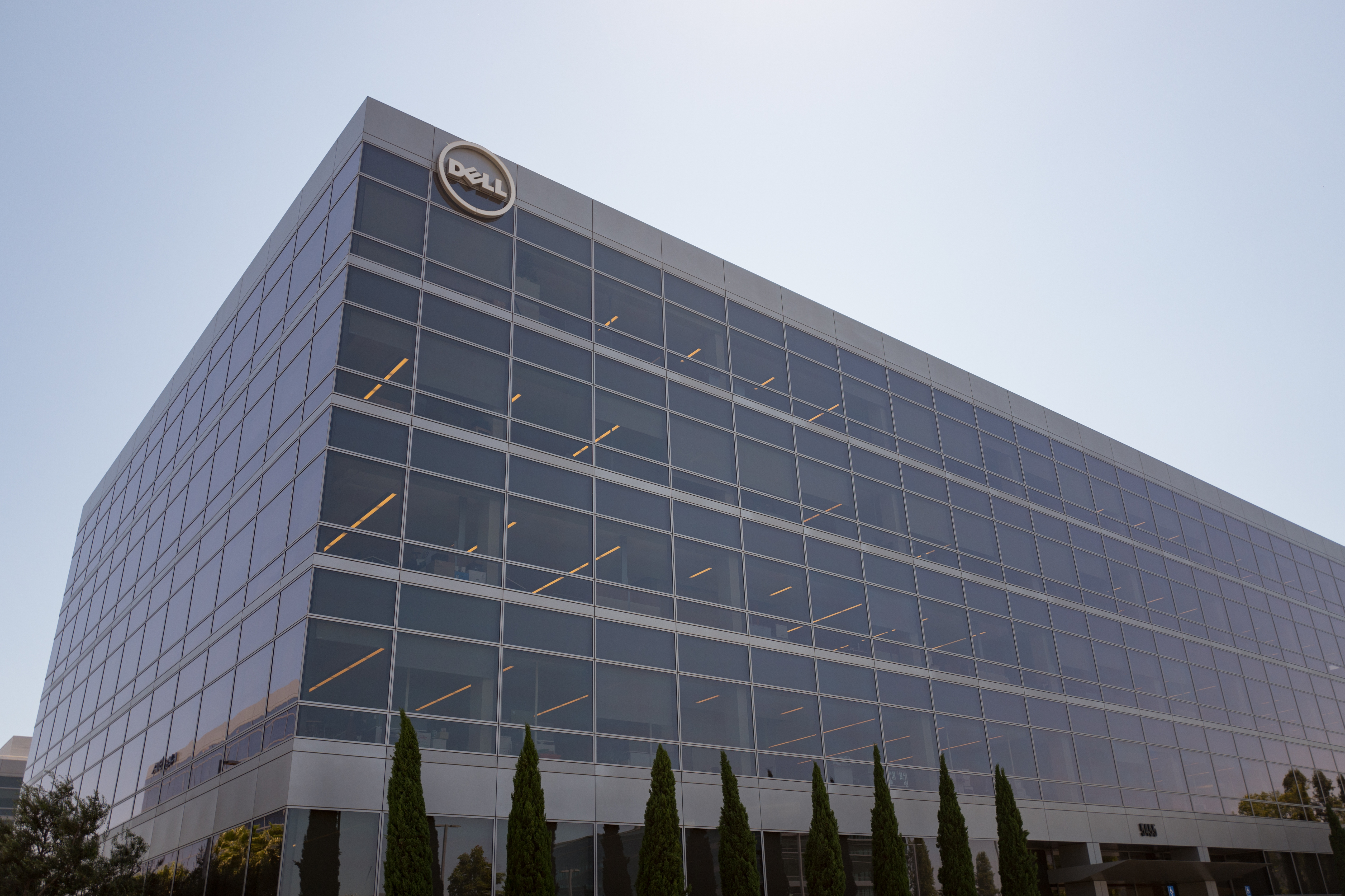Regional headquarters, with logo and signage, for Dell Computers in the Silicon Valley town of Santa Clara, California, July 25, 2017.