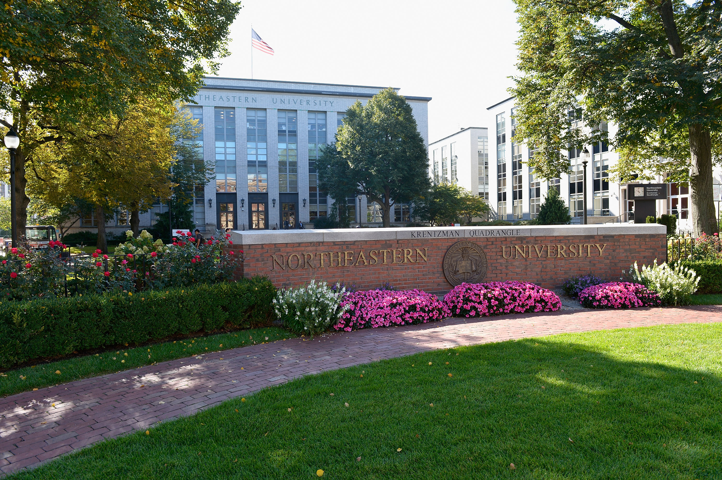 A general view of Northeastern University on September 30, 2014 in Boston, MA.