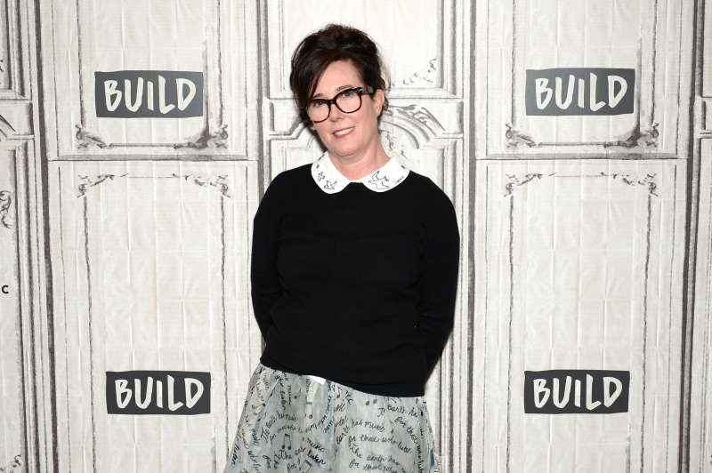 Designer Kate Spade attends AOL Build Series to discuss her latest project Frances Valentine at Build Studio on April 28, 2017 in New York City.