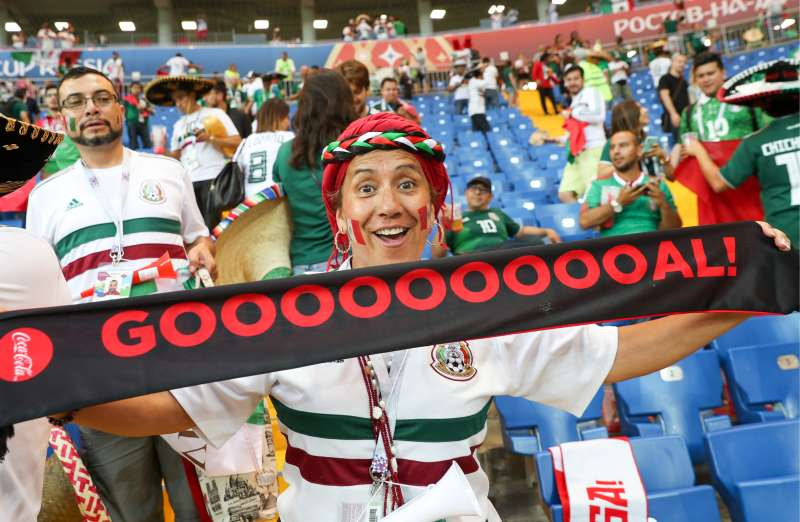 Mexico's loyal fans will cheer the team on in its World Cup game today against Sweden.