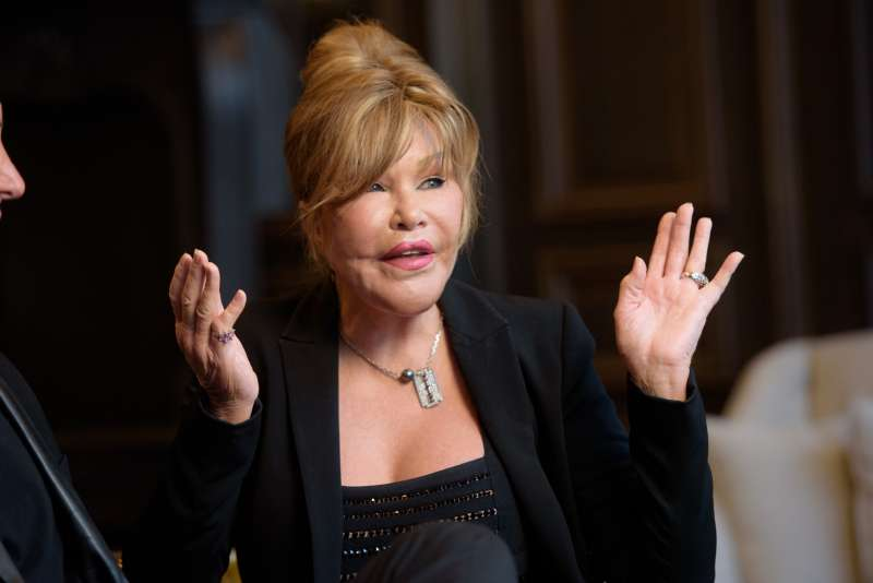 Jocelyn Wildenstein discusses her engagement to Lloyd Klein at Baccarat Hotel on August 5, 2017 in New York City.