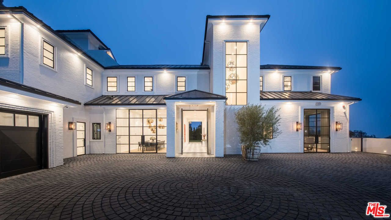 One of two mansions LeBron James owns in the Brentwood neighborhood of Los Angeles. He purchased this estate in December, 2017.