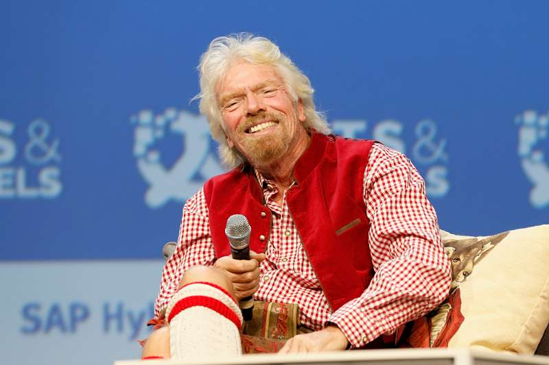 Richard Branson attends the Bits & Pretzels Founders Festival at ICM Munich.