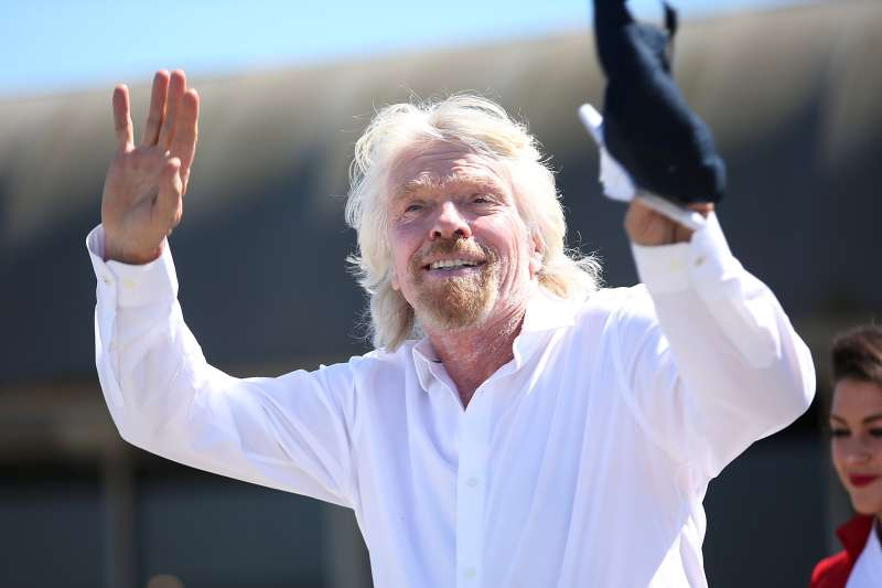 Sir Richard Branson gets inducted into The Flight Path Walk of Fame at LAX.