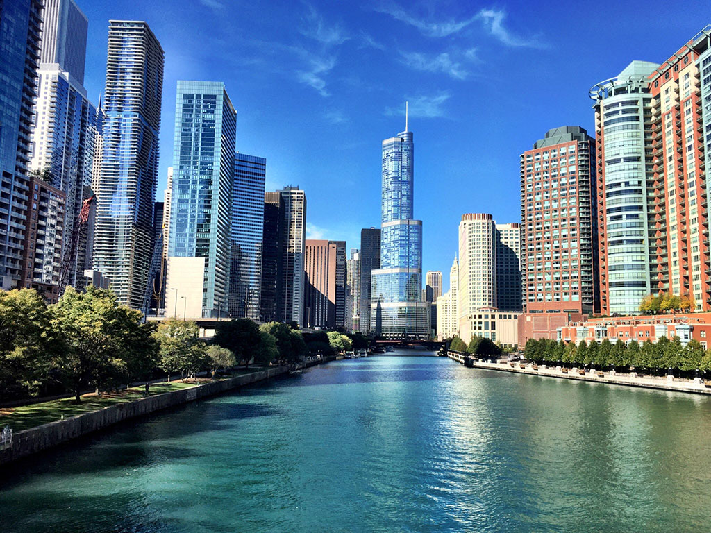 View of Chicago from the Chicago River