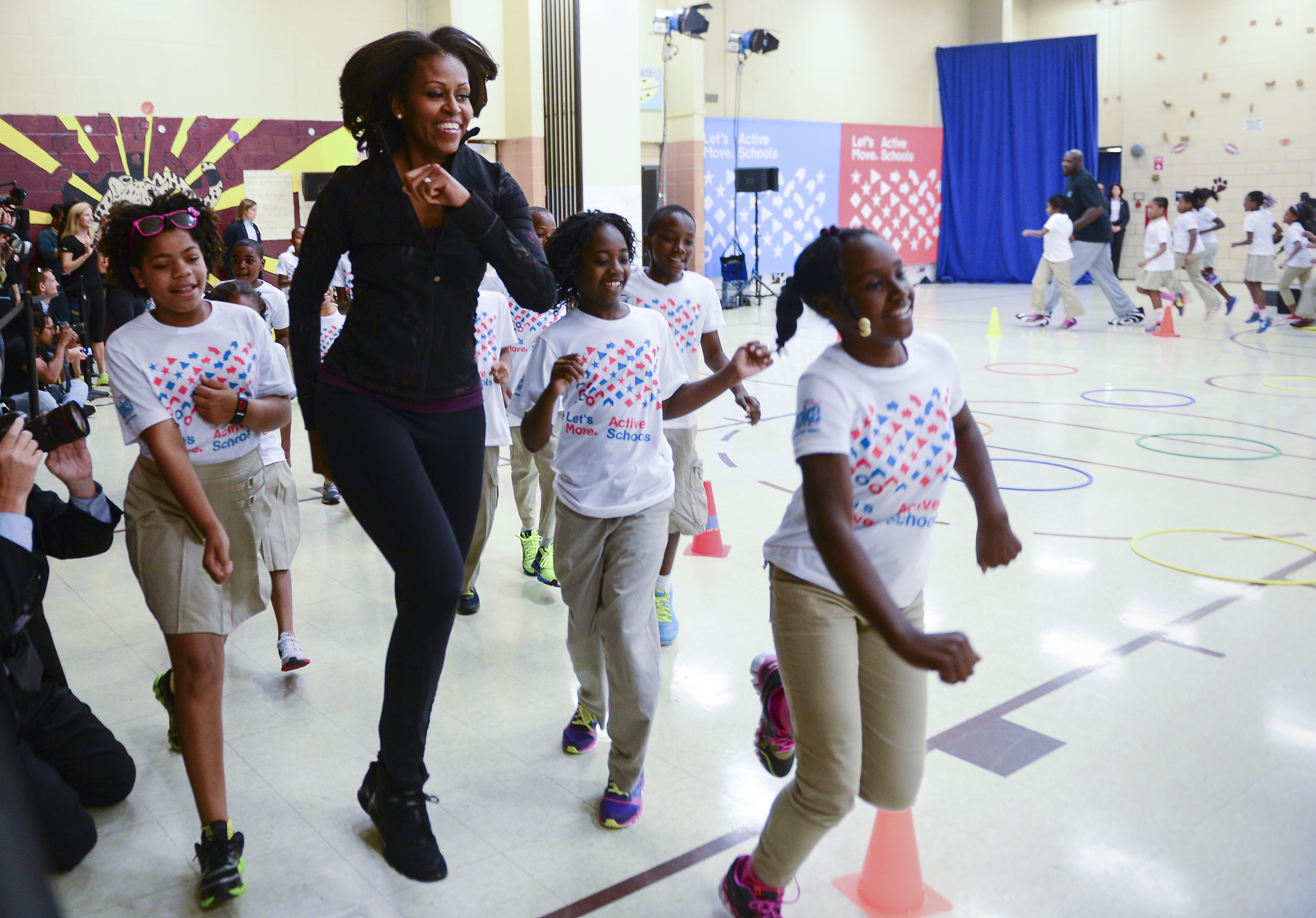 First Lady Michelle Obama To Join Shaquille O'Neal, Allyson Felix and Dominique Dawes At A Back To School Event