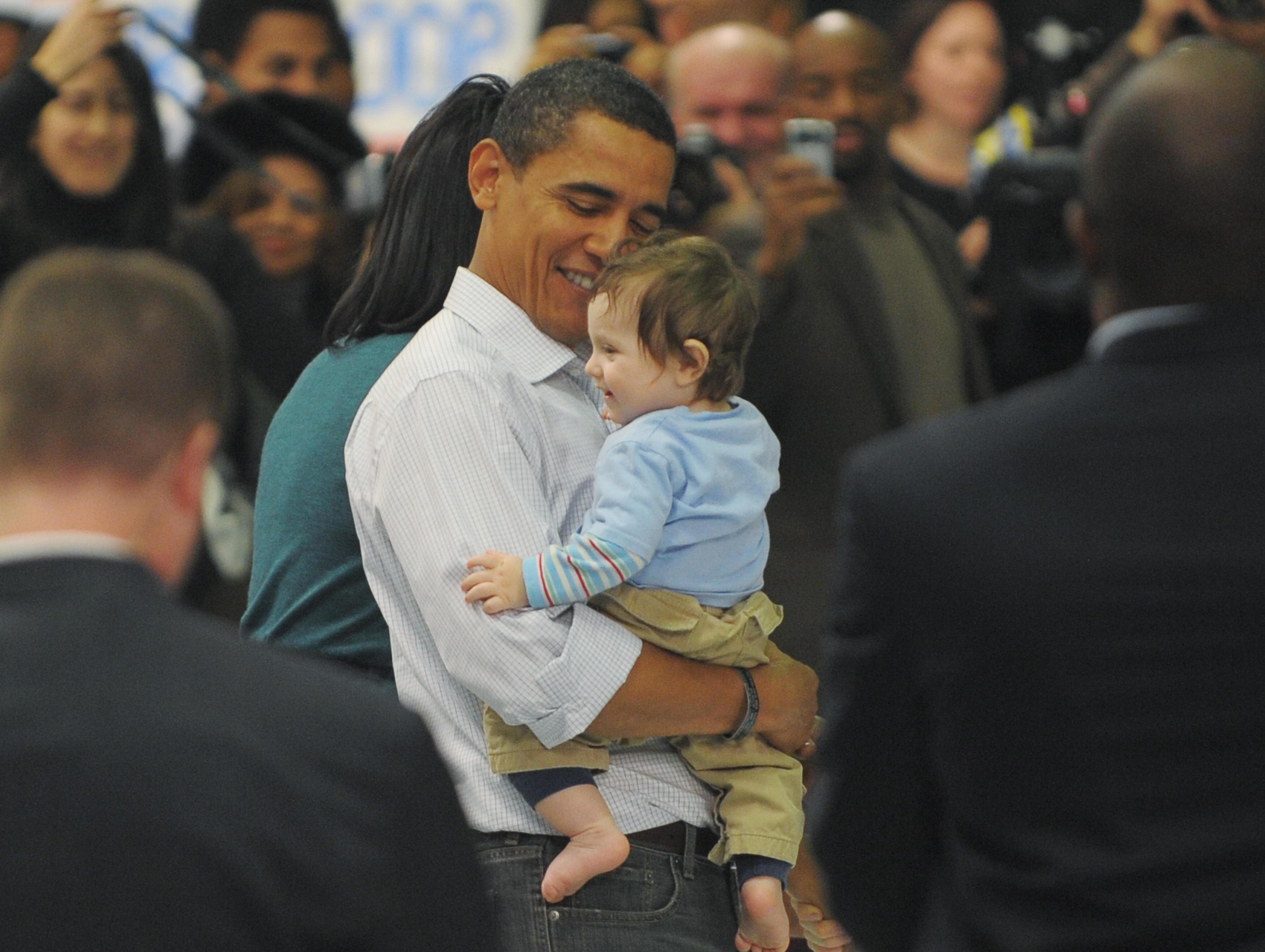 US President-elect Barack Obama holds a