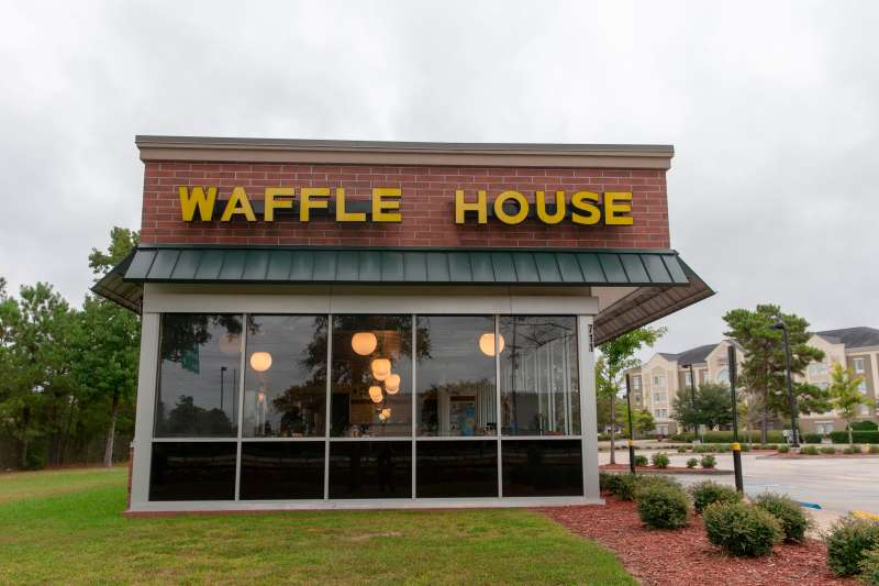 A closed Waffle House restaurant is seen on September 13, 2018 in Myrtle Beach, South Carolina.