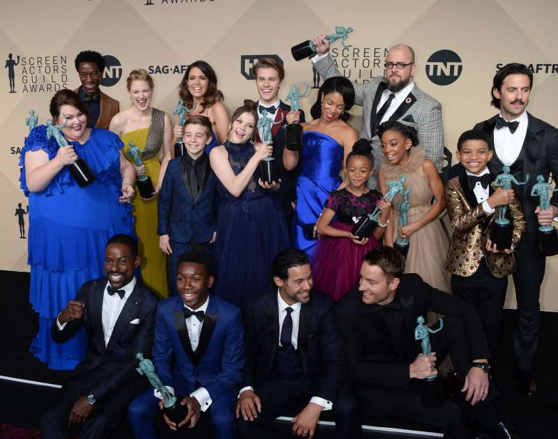 Chrissy Metz, Sterling K. Brown, Mandy Moore, Milo Ventimiglia and cast of This is US               24th Annual Screen Actors Guild Awards, Press Room, Los Angeles.