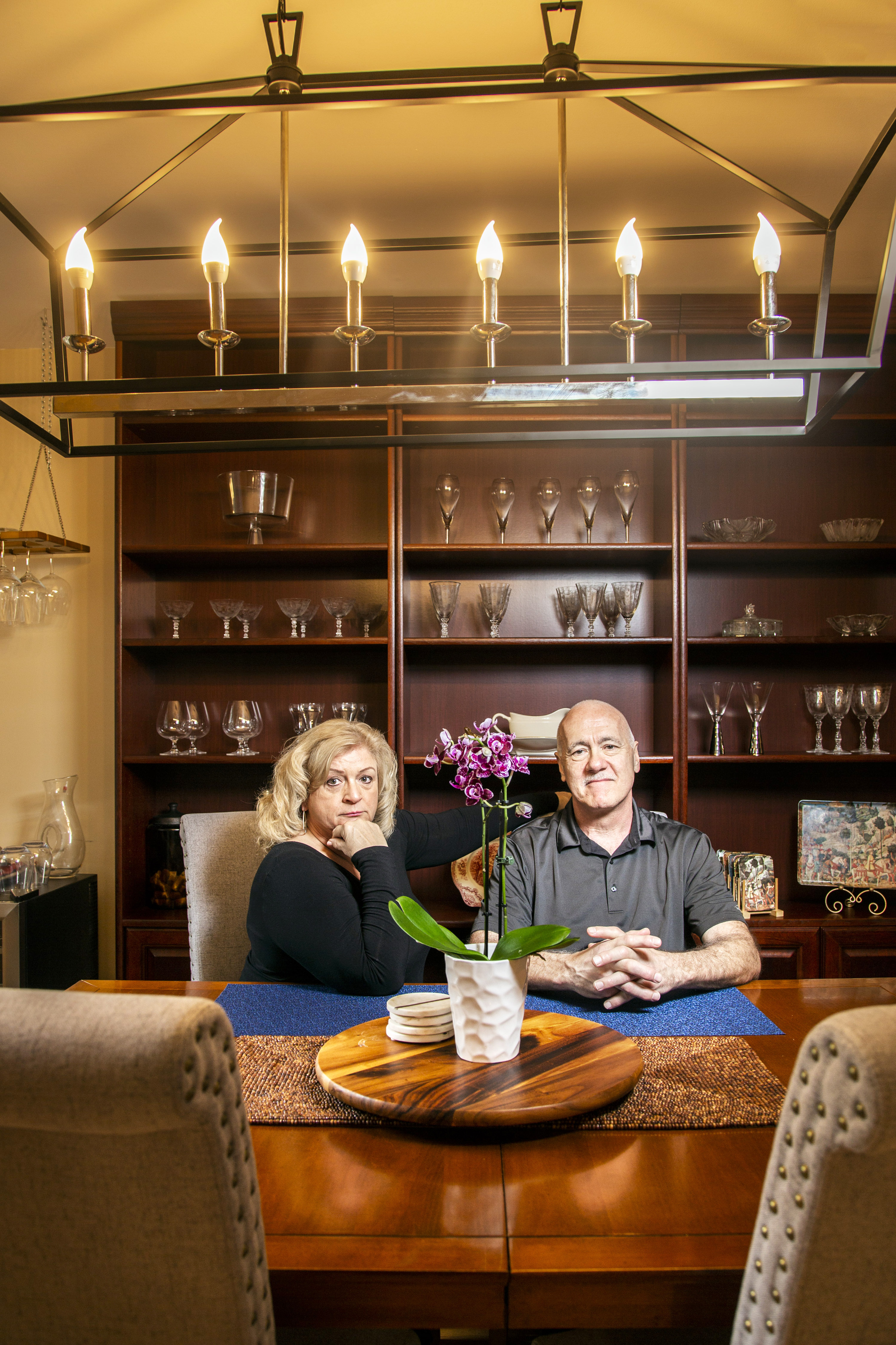 Cathy and Fred Leamnson at their home in Reston, Va.