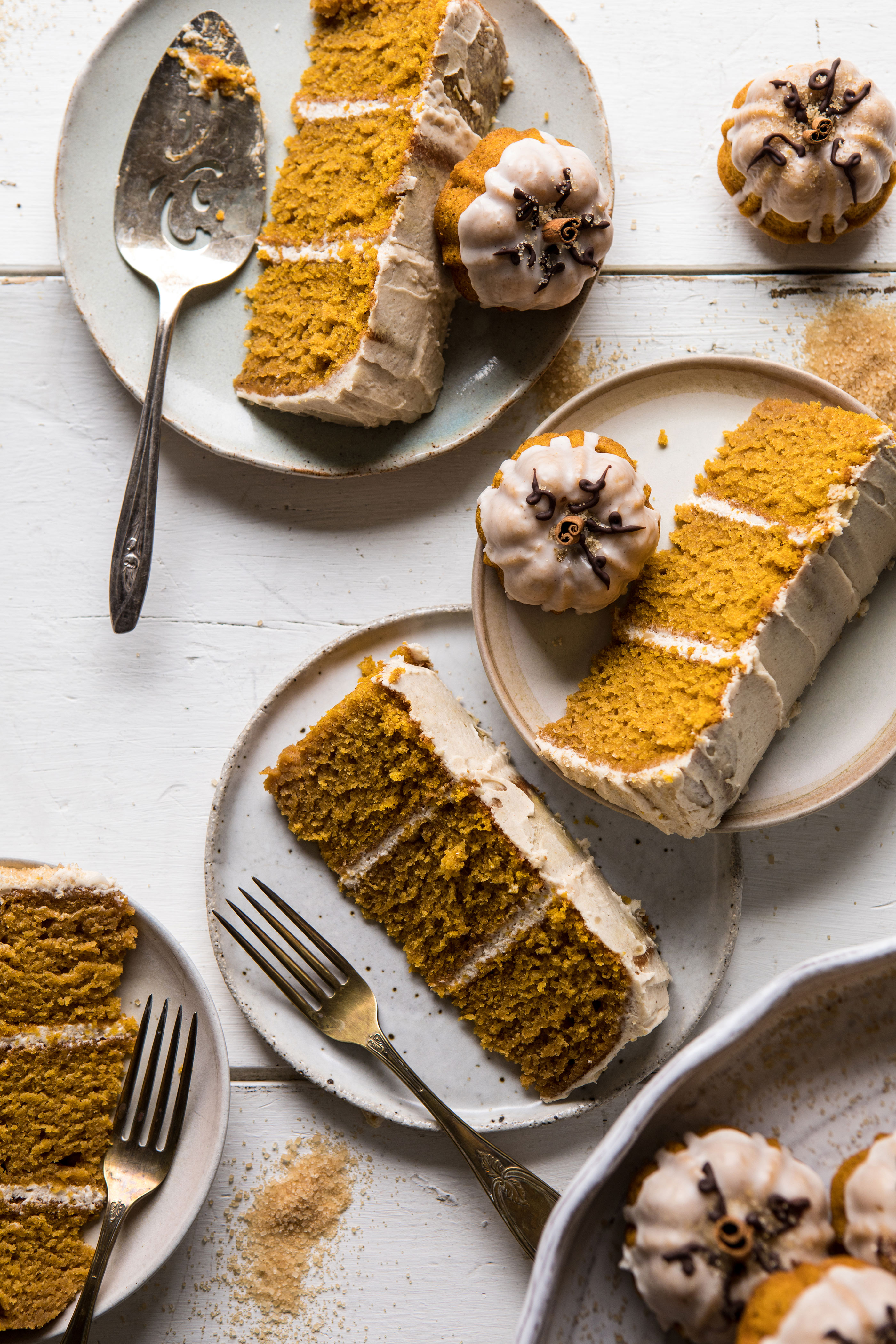 Chai pumpkin cake with maple browned butter frosting