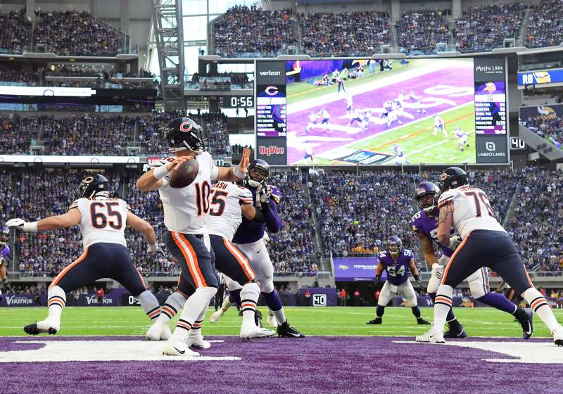 Division rivals Minnesota Vikings and Chicago Bears play on  Sunday Night Football  on NBC this week.