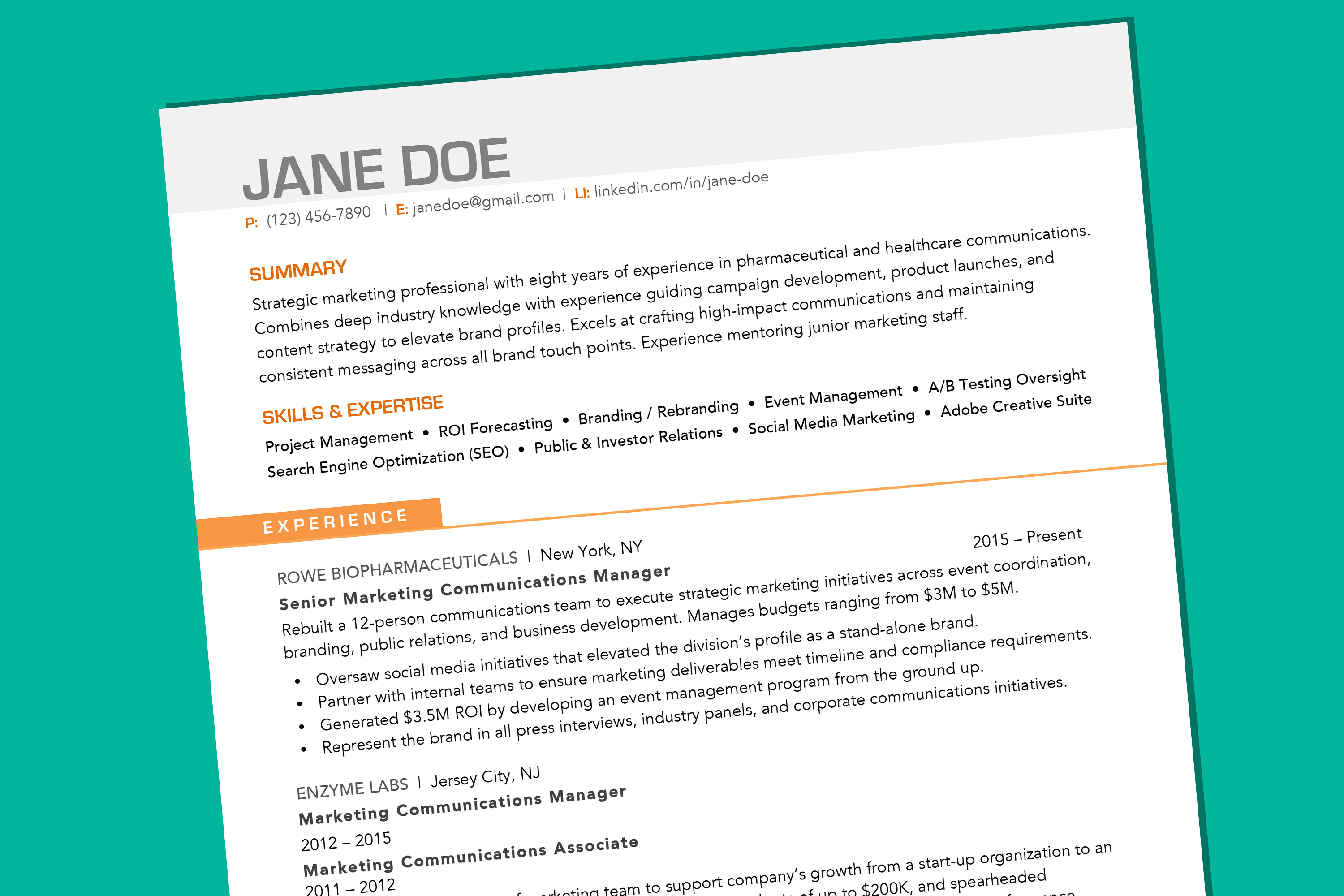 Smart Resume Format from content.money.com
