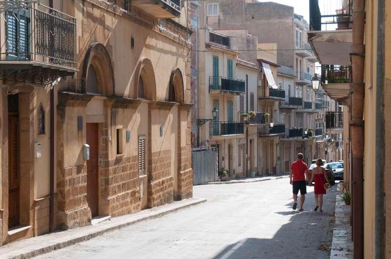 A view of the village of Sambuca di Sicilia, Italy. Sambuca di Sicilia is a municipality in the Province of Agrigento in the Italian region Sicily.