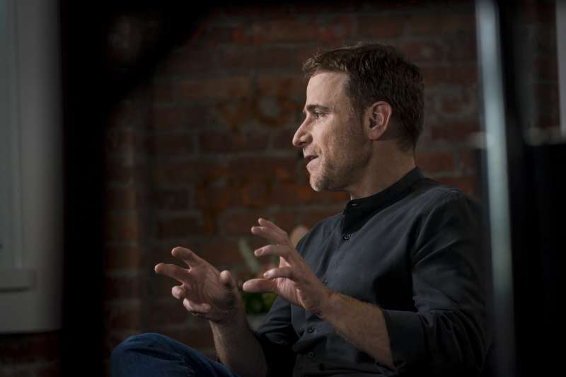 Stewart Butterfield, co-founder and chief executive officer of Slack Technologies Inc., speaks during a Bloomberg Studio 1.0 Television interview in San Francisco, California, on August 3, 2018.