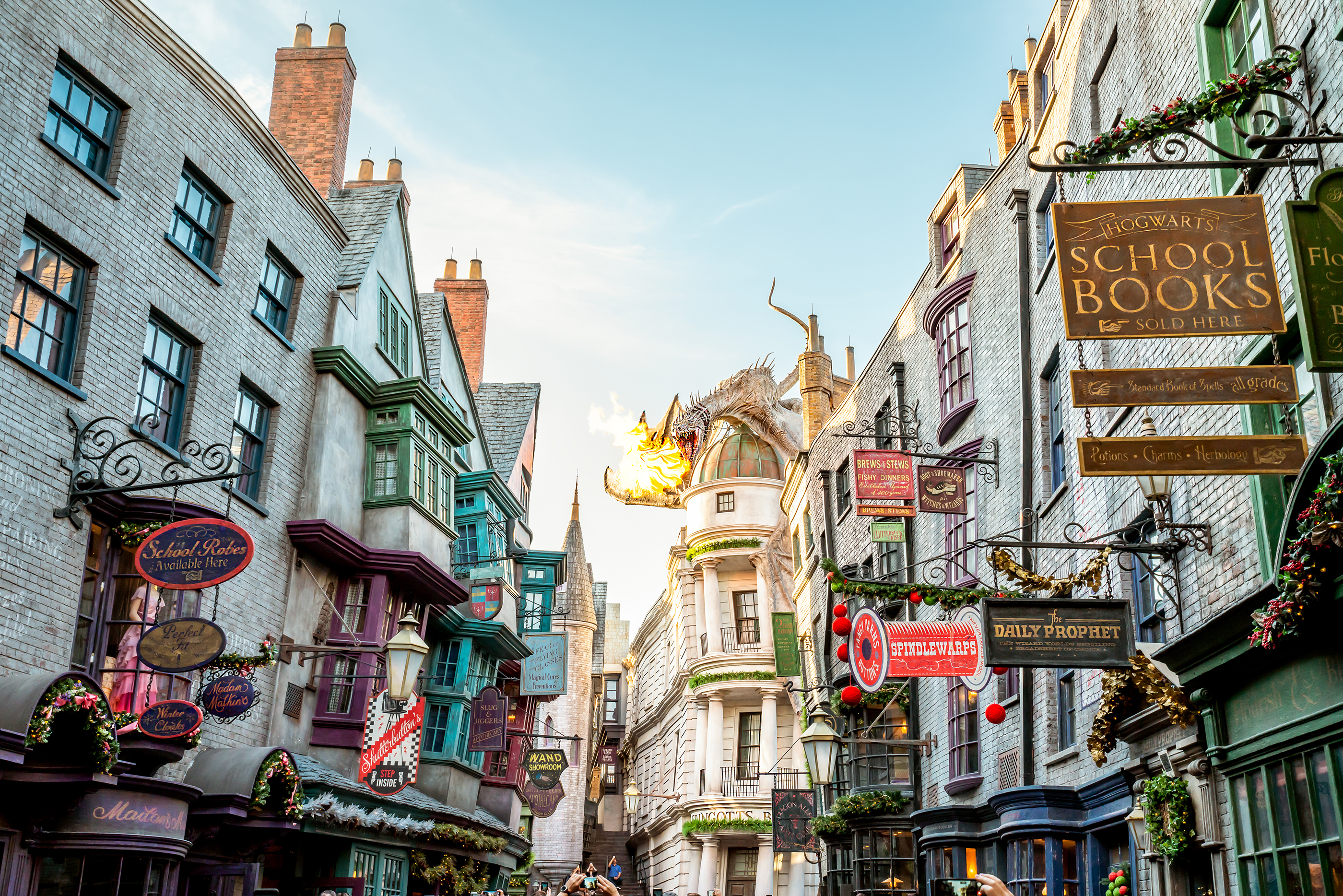 The Wizarding World of Harry Potter – The iconic dragon at Diagon Alley, Universal Studios Florida.
