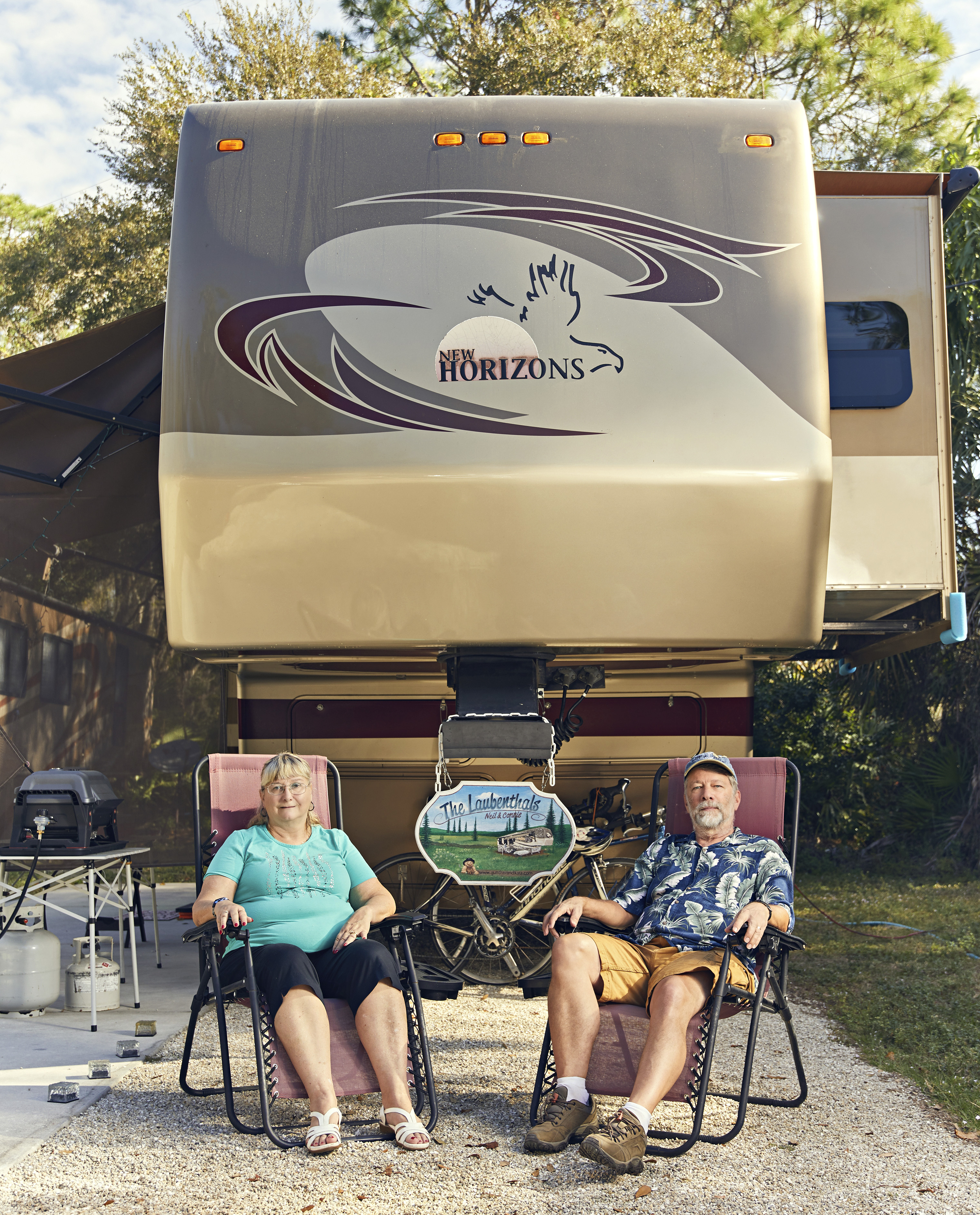 Neil and Connie Laubenthal like to spend many months at the Seminole Campground in North Fort Myers, Fla.