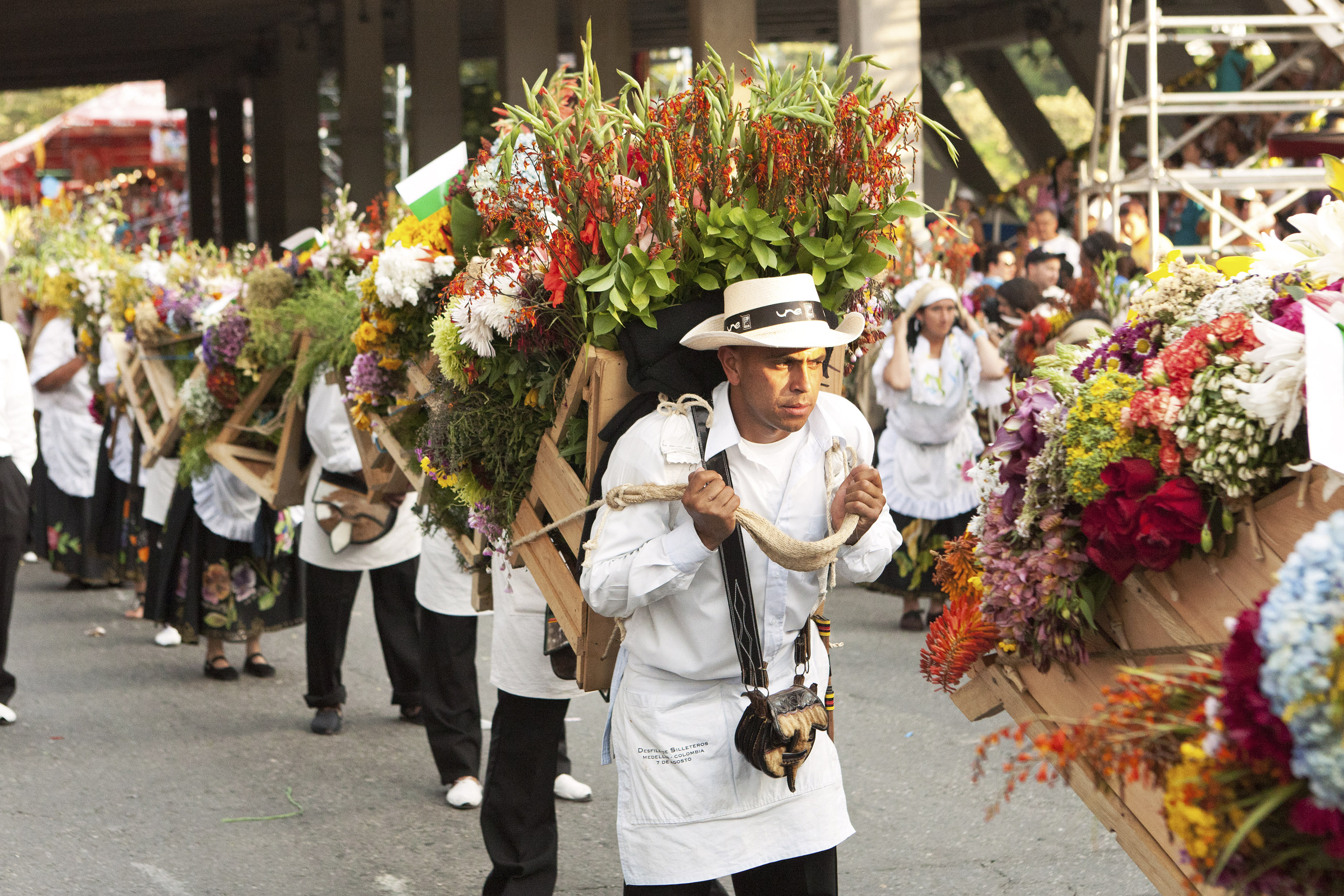 The Festival of the Flowers takes place each August in Medellín