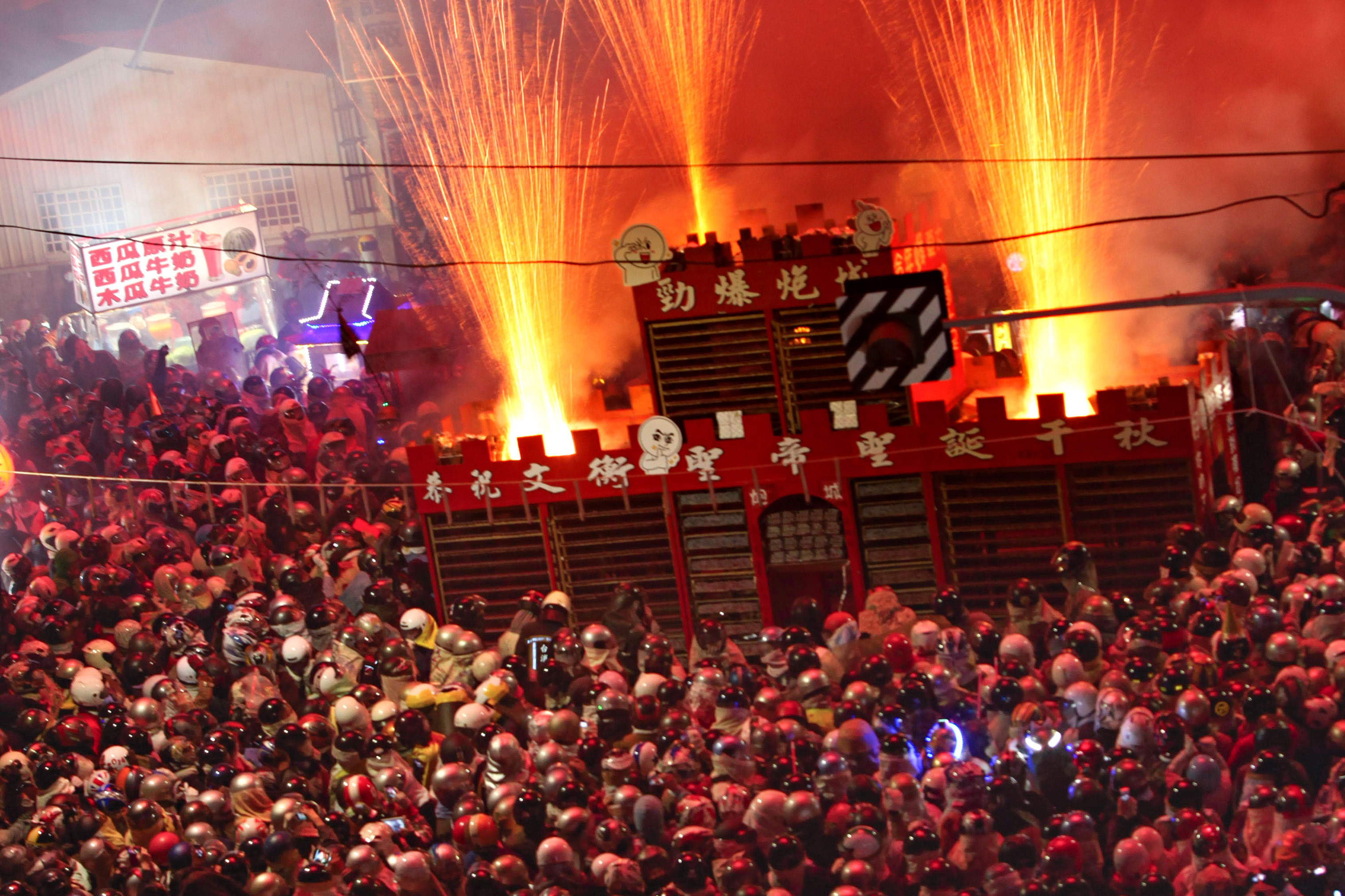 Visit Tainan in February, and watch the sky light up at the Yanshui Beehive Fireworks Festival.