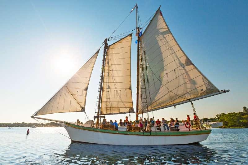 The Argia schooner in Mystic, Conn., one of Money's best U.S. destinations.