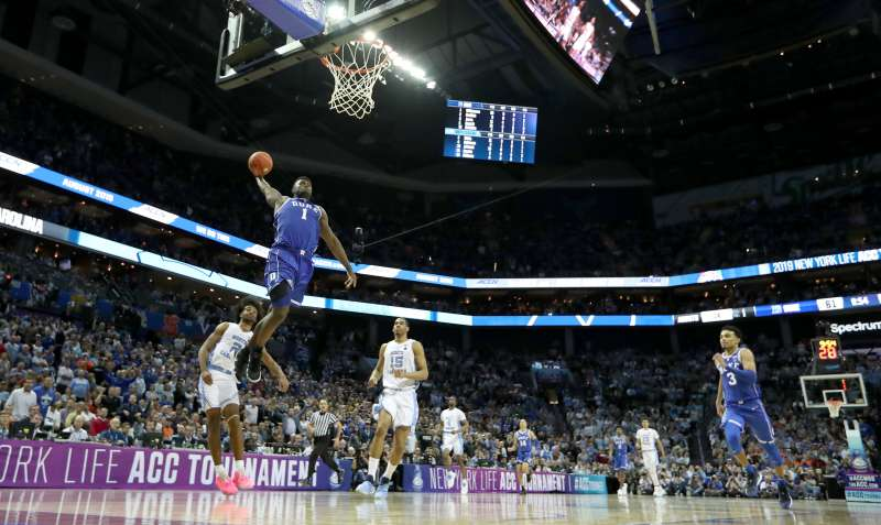 ACC rivals Duke and UNC both received No. 1 seeds in the 2019 March Madness men's college basketball tournament.