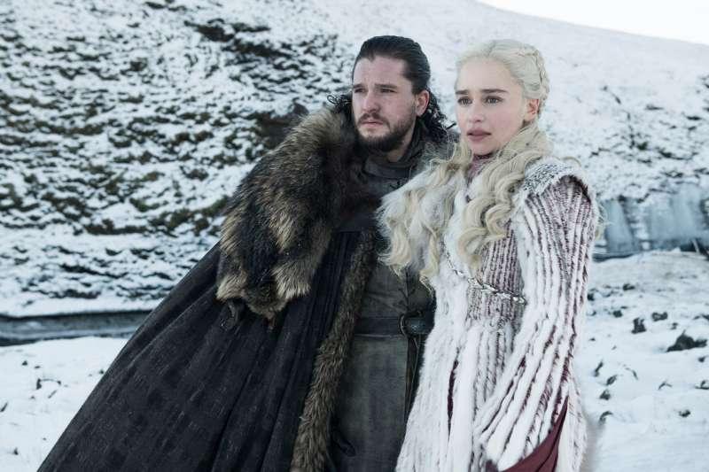 Kit Harington and Emilia Clarke in Season 8 of Game of Thrones.