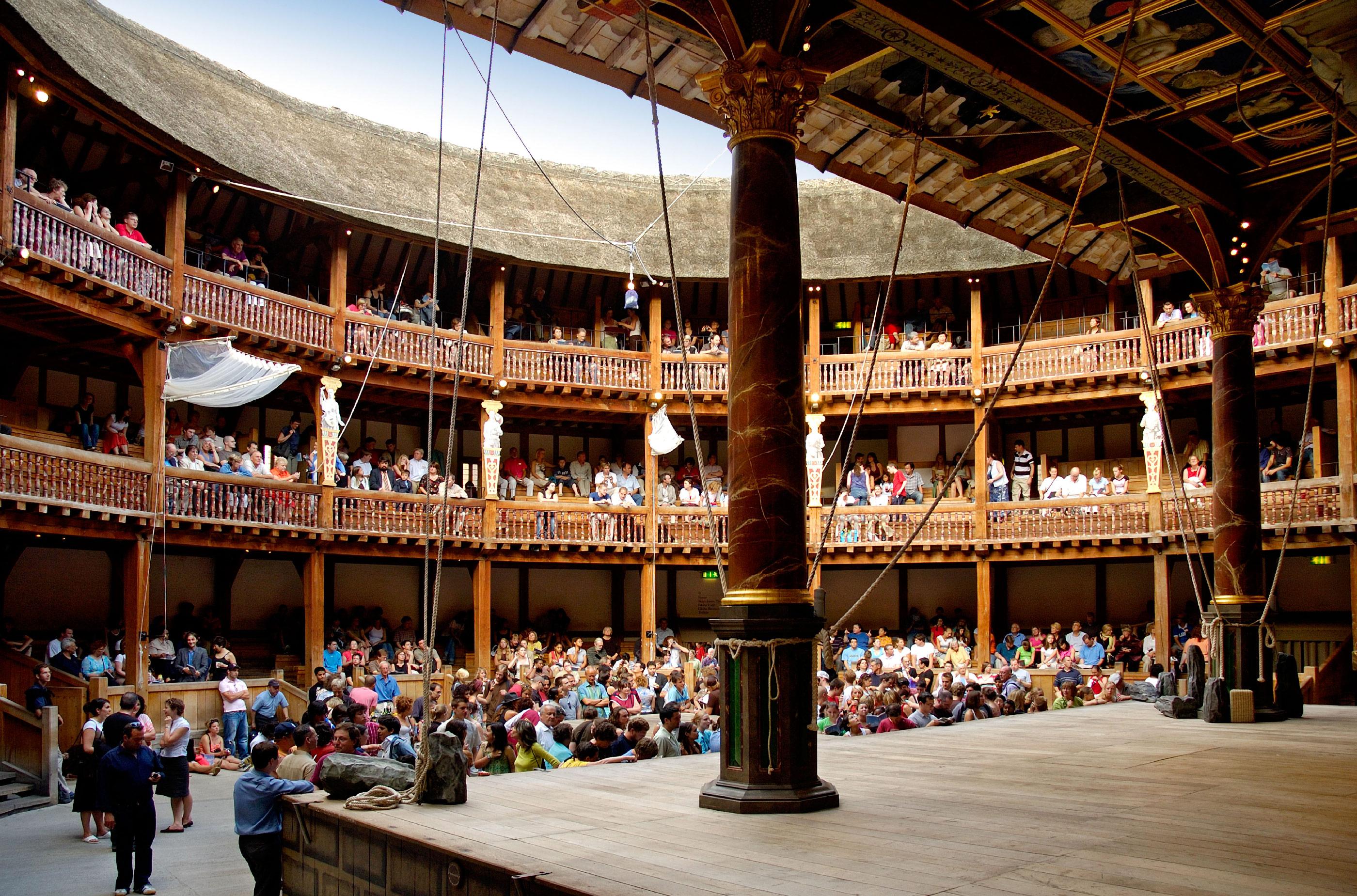 Interior of Shakespeares Globe Theatre, London, England