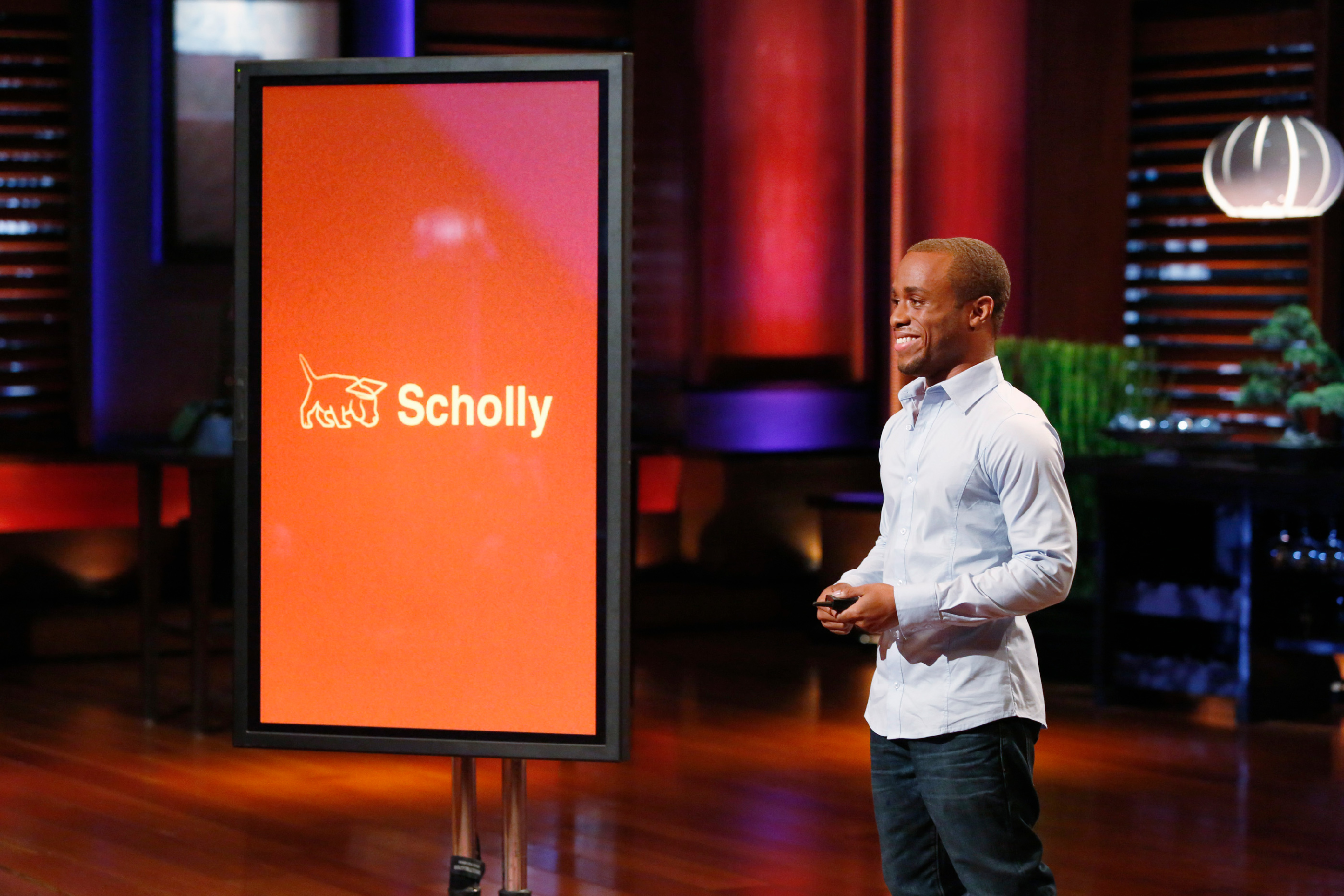 Gray pitched Scholly on ABC's  Shark Tank —and landed $40,000 in funding.