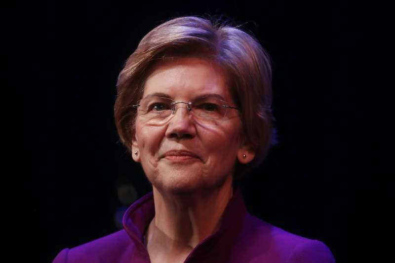 U.S. Senator and Democratic presidential candidate Elizabeth Warren at a campaign event on February 18, 2019 in Glendale, California.