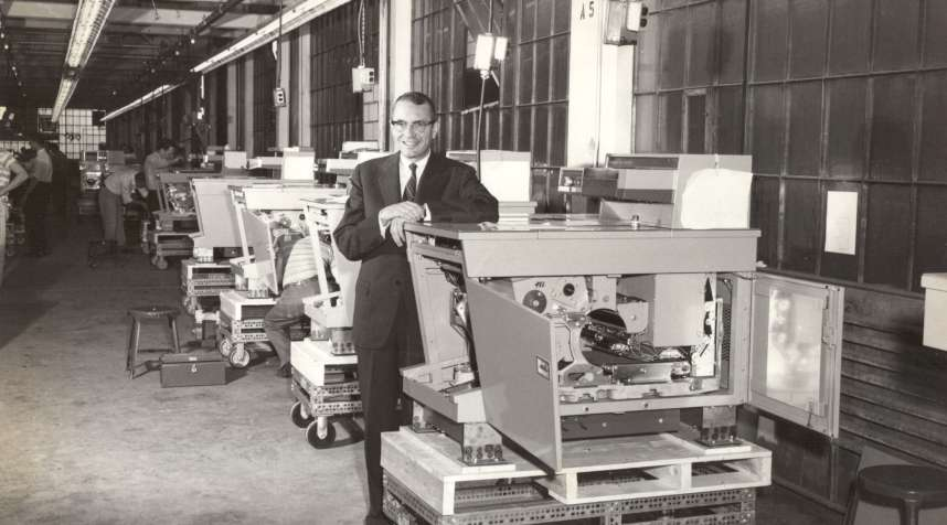 Joseph C. Wilson, CEO from 1946-1966 with the Xerox 914.