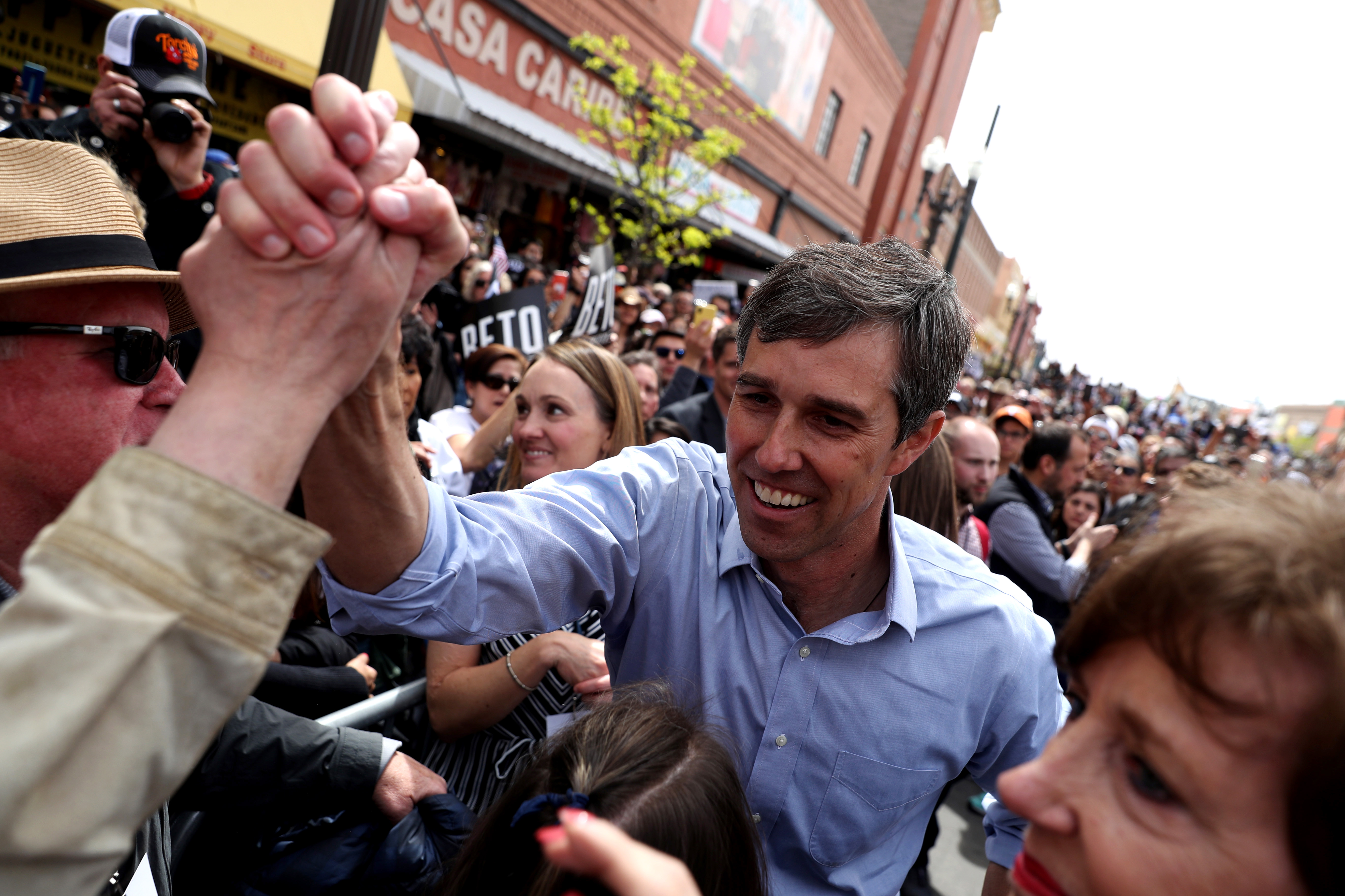 Beto O'Rourke Holds Official Campaign Launch Rally In His Hometown Of El Paso