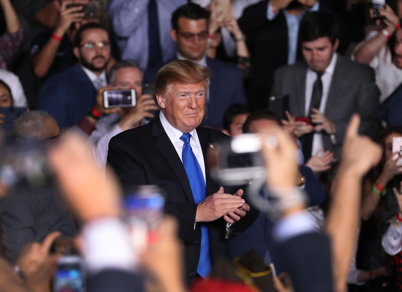 President Trump Speaks To Venezuelan Community In Miami At Florida International University