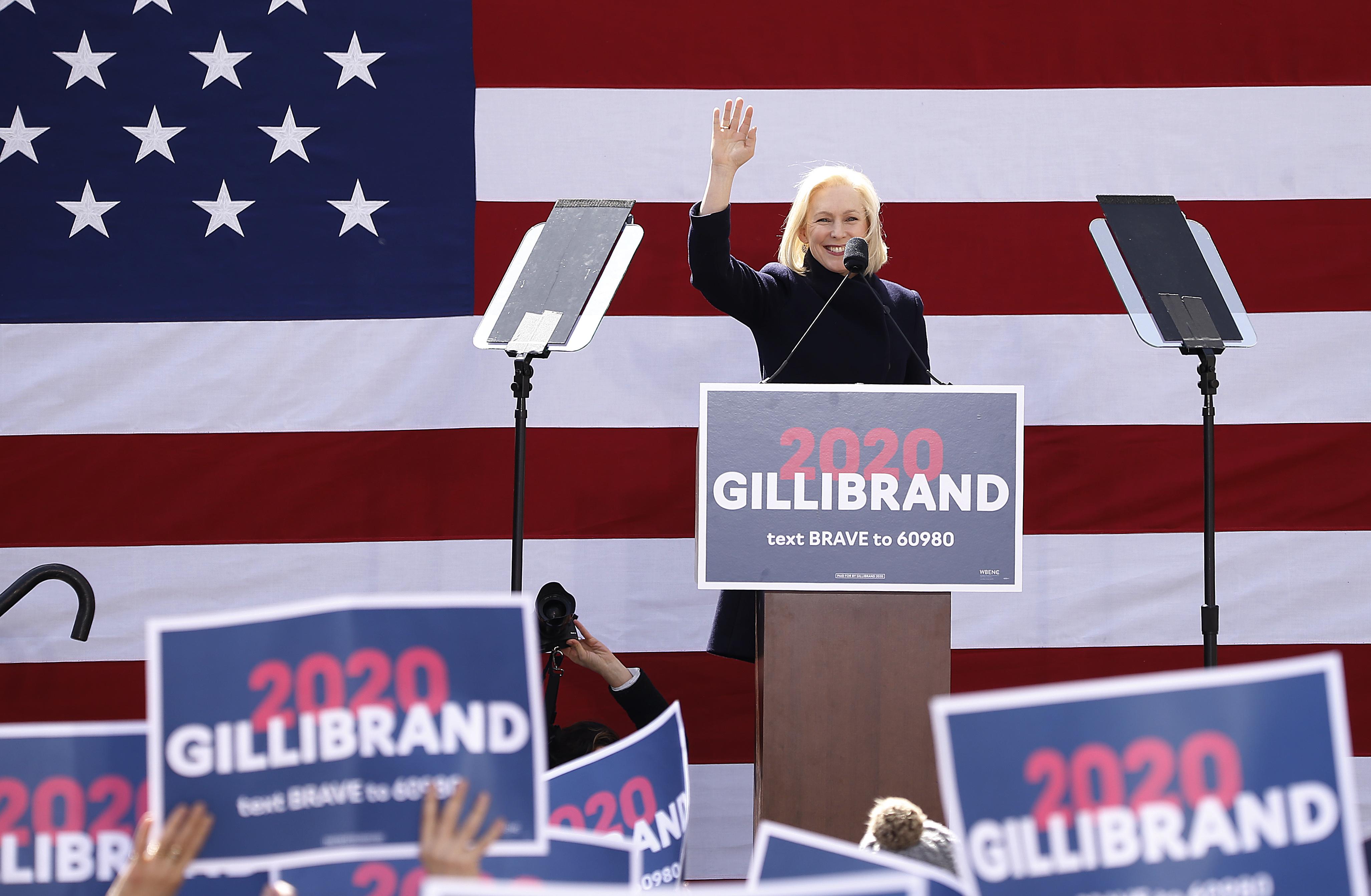 Actress Connie Britton Attends Sen. Kirsten Gillibrand Kickoff Rally