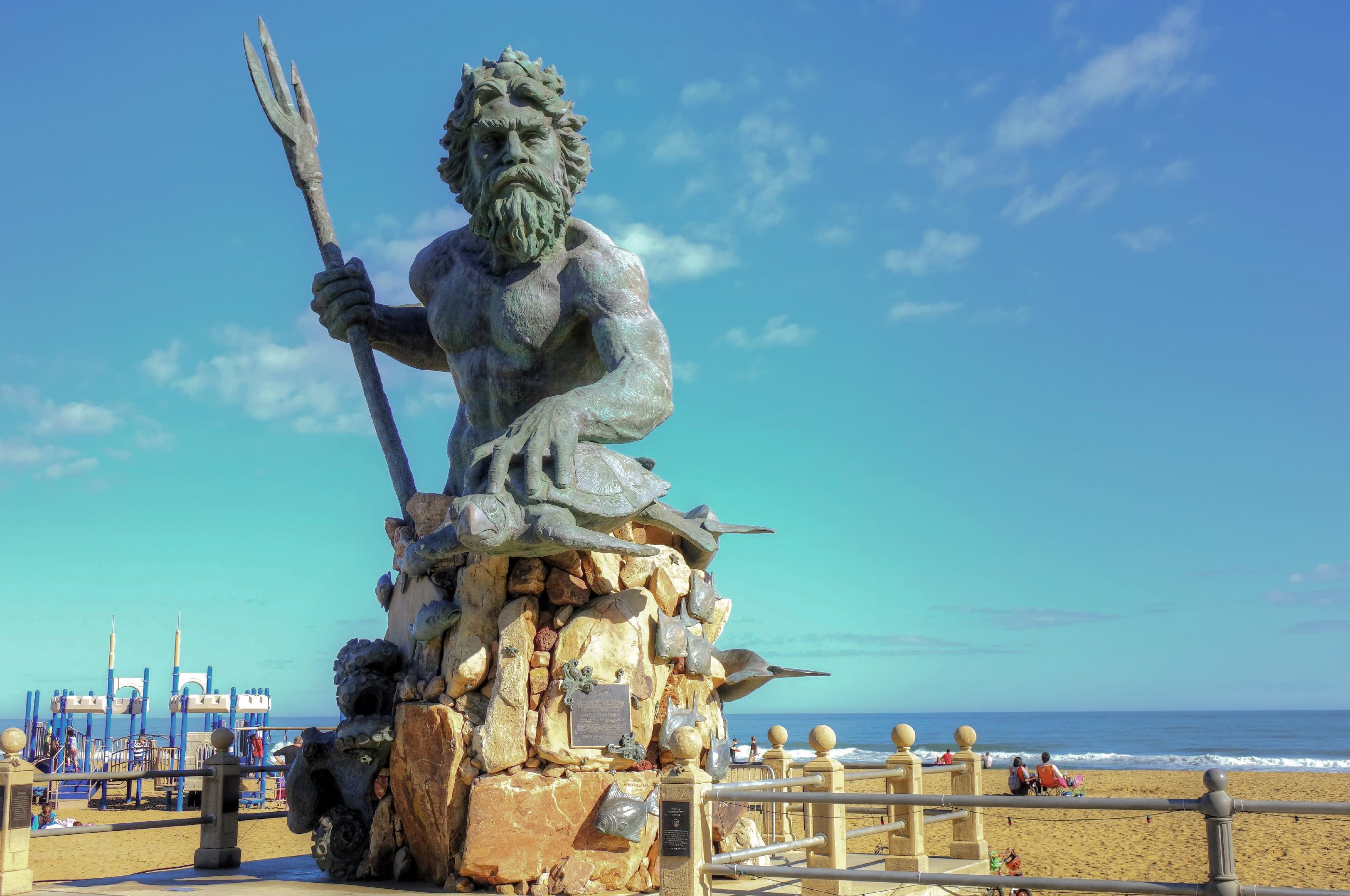 The statue of King Neptune, Virginia Beach Boardwalk