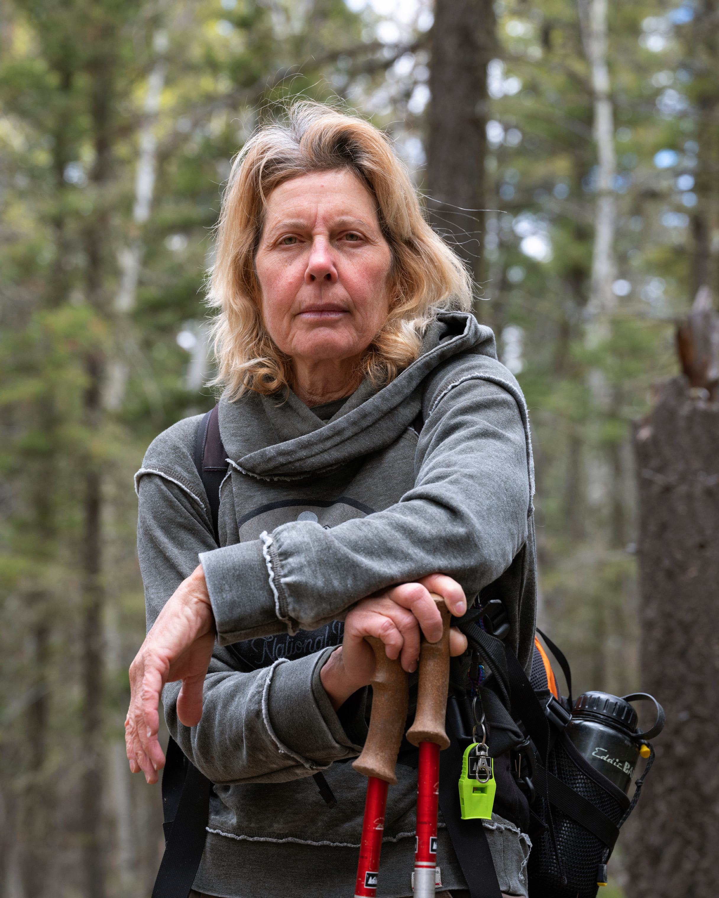 Cynthia Meachum in the Pecos Wilderness, May 28, 2019.