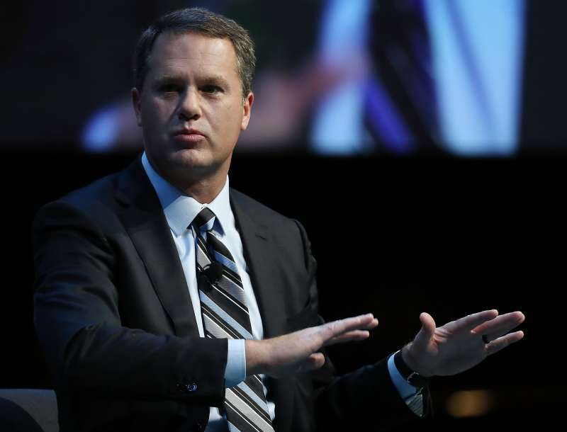 WASHINGTON, DC - DECEMBER 06:  Doug McMillon, president and CEO of Walmart Inc. Corporation, participates in a Business Roundtable discussion on the Future of Work in an Era of Automation and Artificial Intelligence