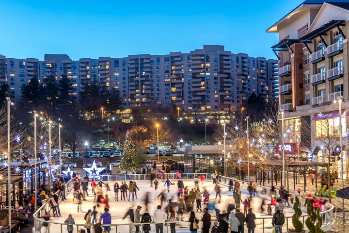 Ice skating rink in Arlington, Virginia