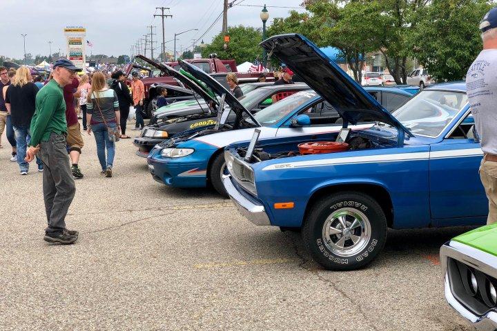 Classic car show in Wyoming, Michigan