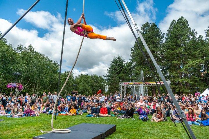 Aerial acrobatics in Beaverton, Oregon