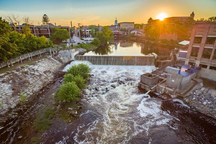 River dam in Nashua, New Hampshire