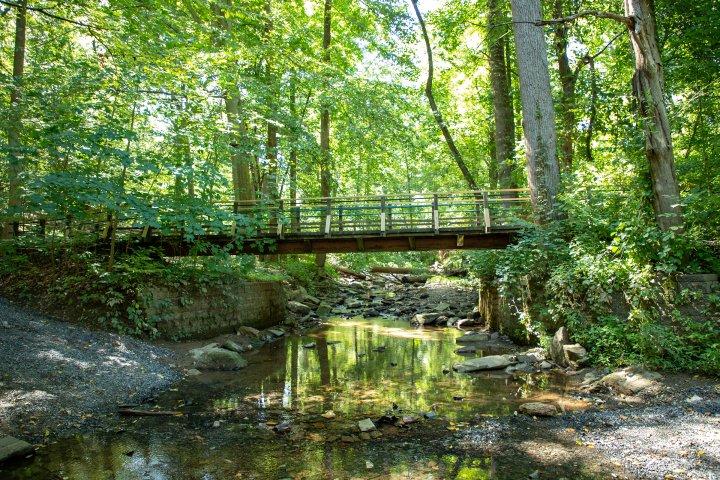 Bridge over creek in Abington, Pennsylvania