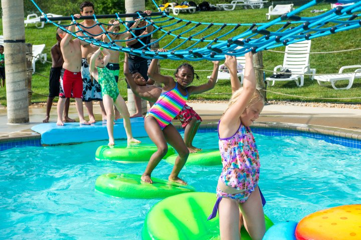 Children playing in pool in Dale City, Virginia