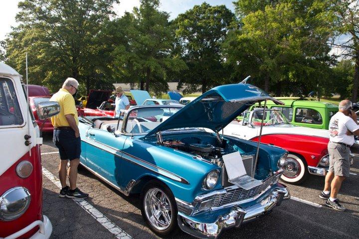 Classic car show in Hoover, Alabama a suburb of Birmingham