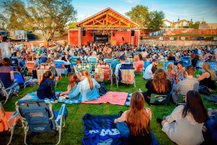 Large outdoor concert in Rocklin, California